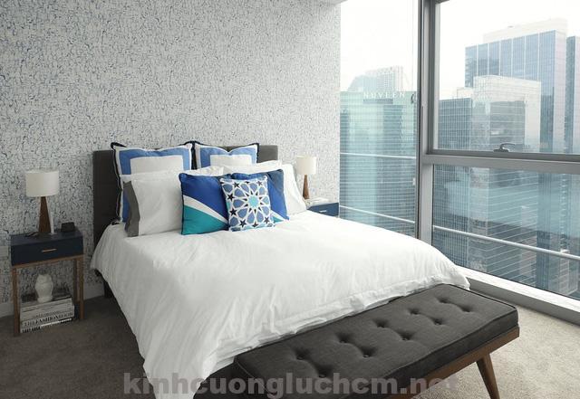 Cửa nhôm kính cường lực cho phòng ngủ thoải mái nhất 2018
