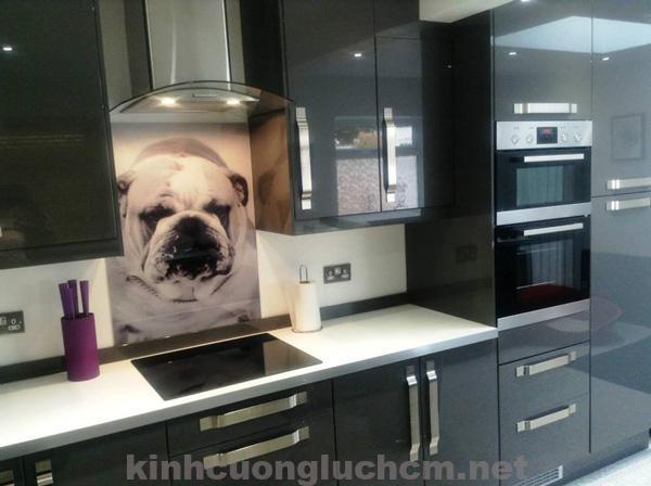 Phòng bếp đẹp và hiện đại nhờ kính cường lực ốp bếp 2018