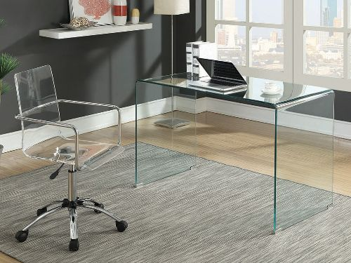 Hình minh họa: Bàn kính văn phòng mang đến một vẻ đẹp sang trọng và hiện đại